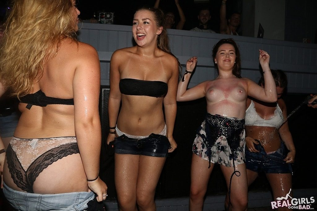 Group of girls stripping