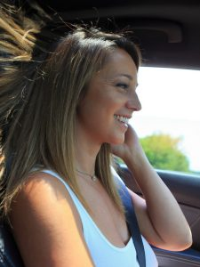 Busty girl nextdoor Nikki Sims on a road trip